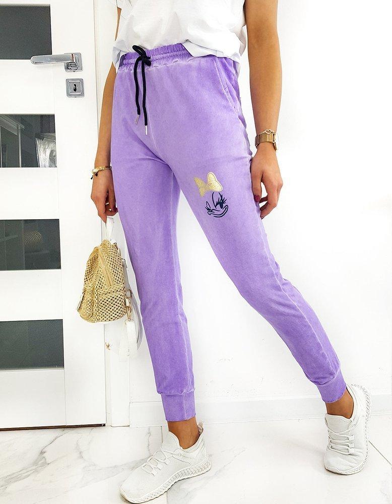Spodnie damskie dresowe DAISY The Dye lila UY0507