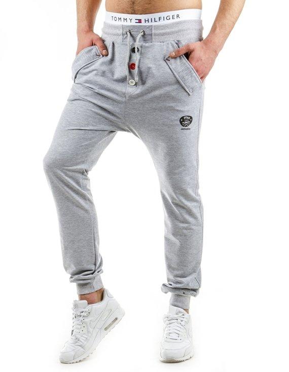 Spodnie M Skie Dresowe Baggy Szare Ux0556 Sklep Online