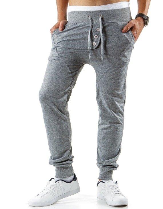 Spodnie M Skie Dresowe Baggy Szare Ux0375 Sklep Online