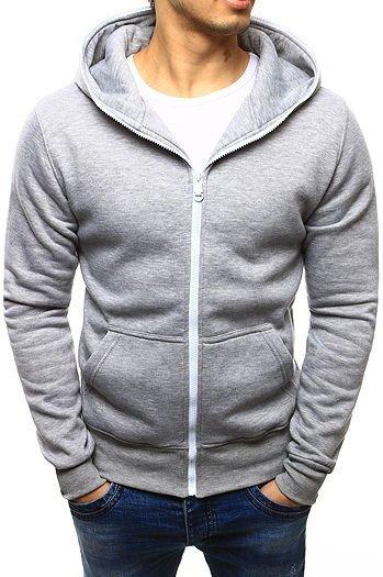 Bluza męska z kapturem szara (bx3582) sklep online Dstreet.pl