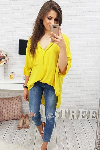 Koszula CUT OUT YELLOW (dy0160)