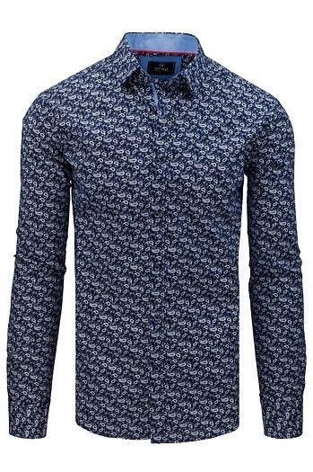 Koszula męska, elegancka w romby DX1676