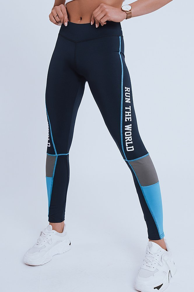 Legginsy damskie RUN THE WORLD granatowe UY0372