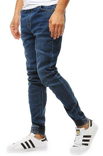9f86ae26be01b Spodnie joggery męskie denim look niebieskie (ux1903)