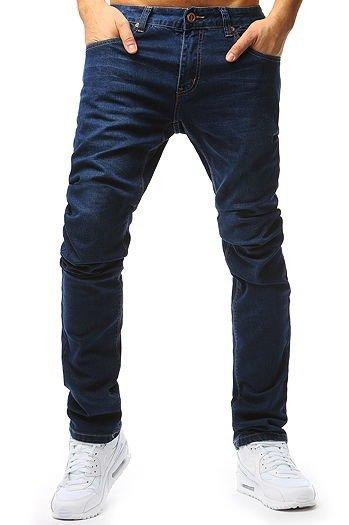 Spodnie męskie w kratę jasnoszare UX2144 sklep online