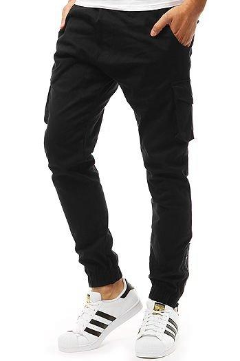9ad3affd42 Spodnie męskie joggery czarne (ux1920)