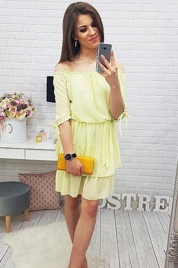 Sukienka LOVE YELLOW (ey0342)