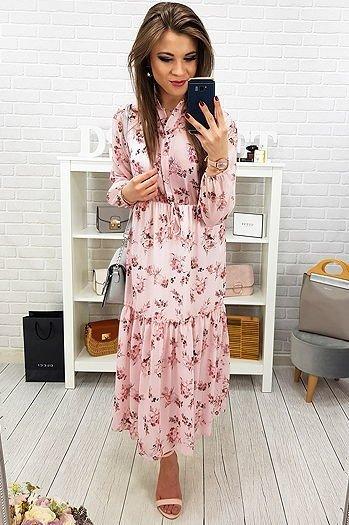 096239d95f Sukienka MAXI PAULA cukierkowy róż (ey0799)