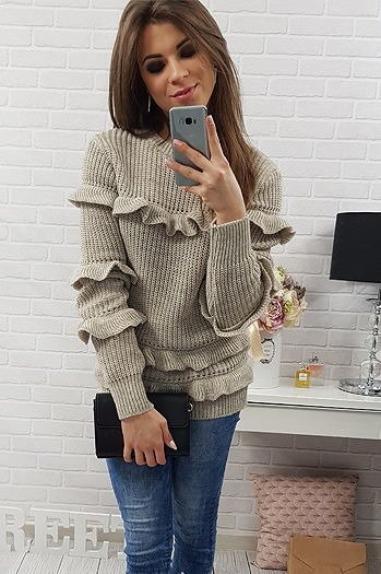 Sweter Carrie beżowy (my0213)
