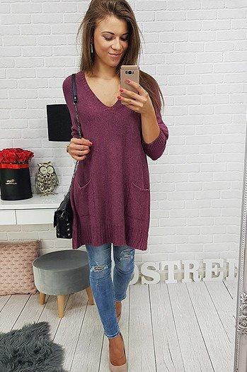 b399edcd24aff3 Sweter damski IVETTE antracytowy (my0264) - sklep online Dstreet.pl