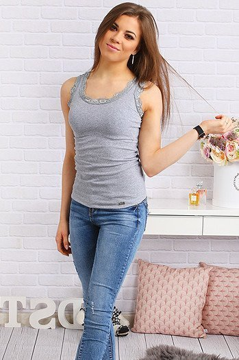 Top BLISS GREY (ry0313)