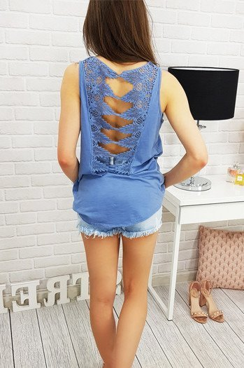 Top BOHO DAPHNE BLUE (ry0409)