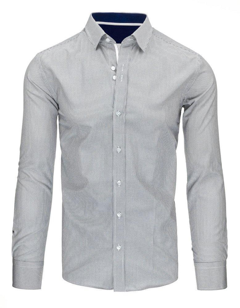 Biało szara koszula męska w paski DX1496 sklep online  CQCd0