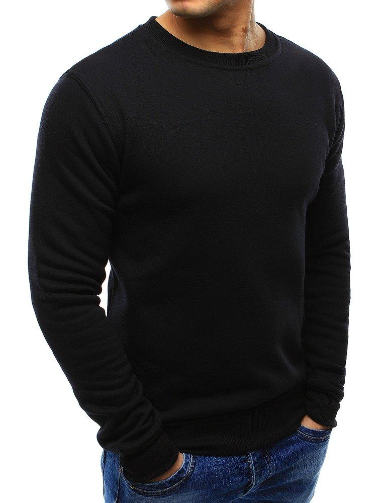 3509a915cd58 Bluza męska bez kaptura czarna (bx2416) - sklep online Dstreet.pl
