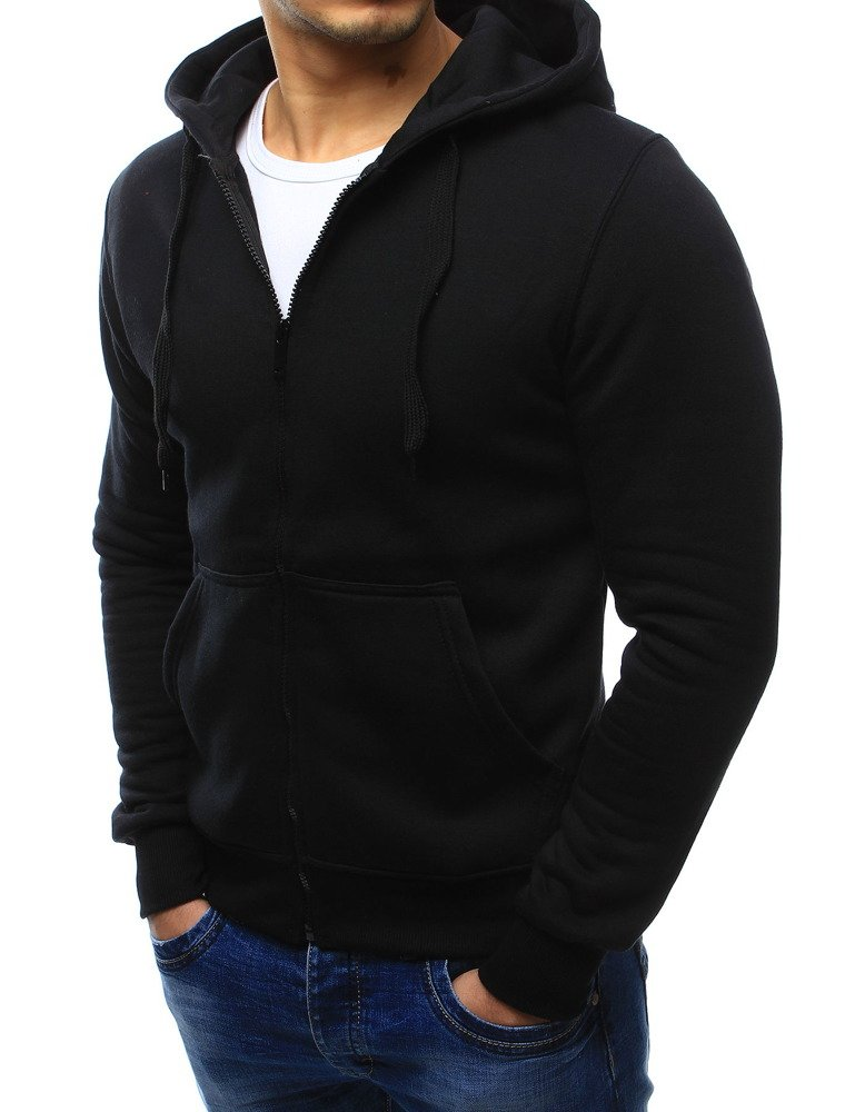 a420e7670cc2c0 Bluza męska rozpinana z kapturem czarna (bx2192) - sklep online ...