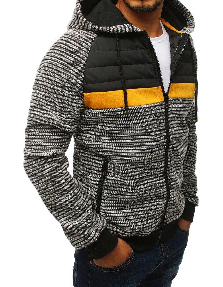 Bluza męska rozpinana z kapturem szara (bx4001)