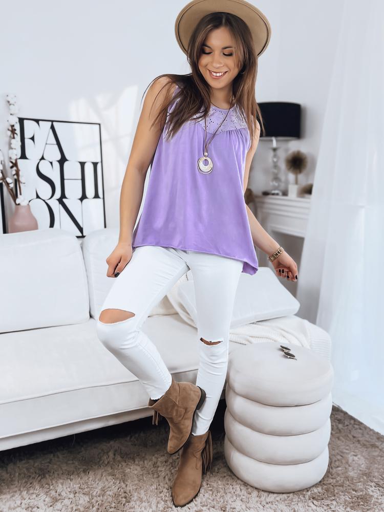bluzka damska Jasminette w kolorze liliowym Dstreet RY1497