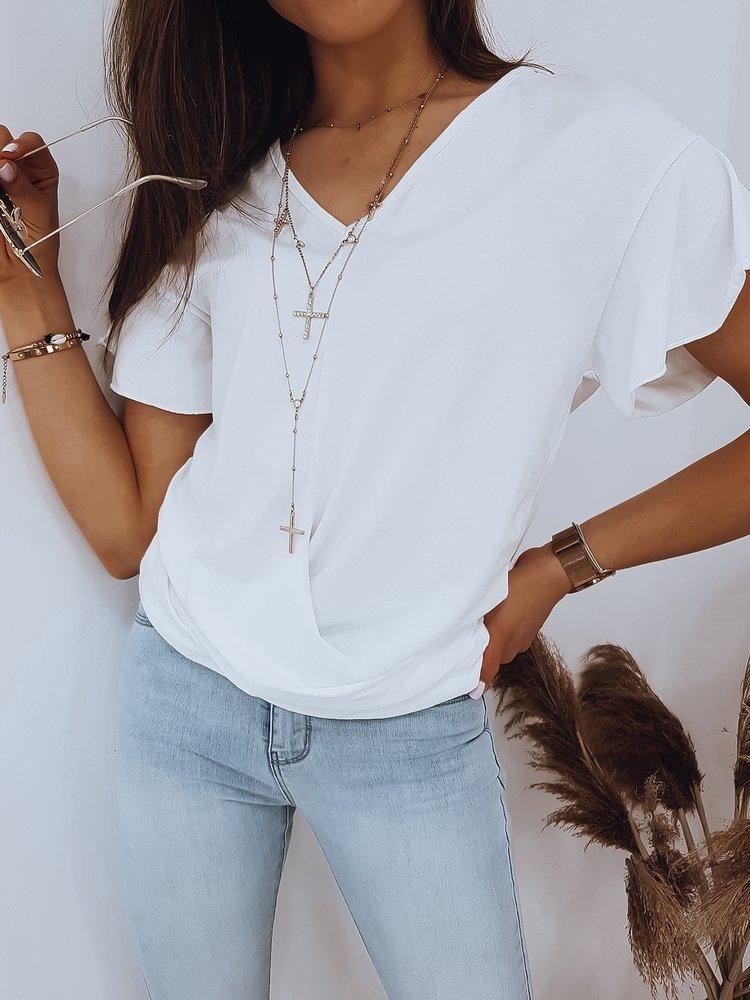 biała bluzka damska NELO Dstreet RY1459