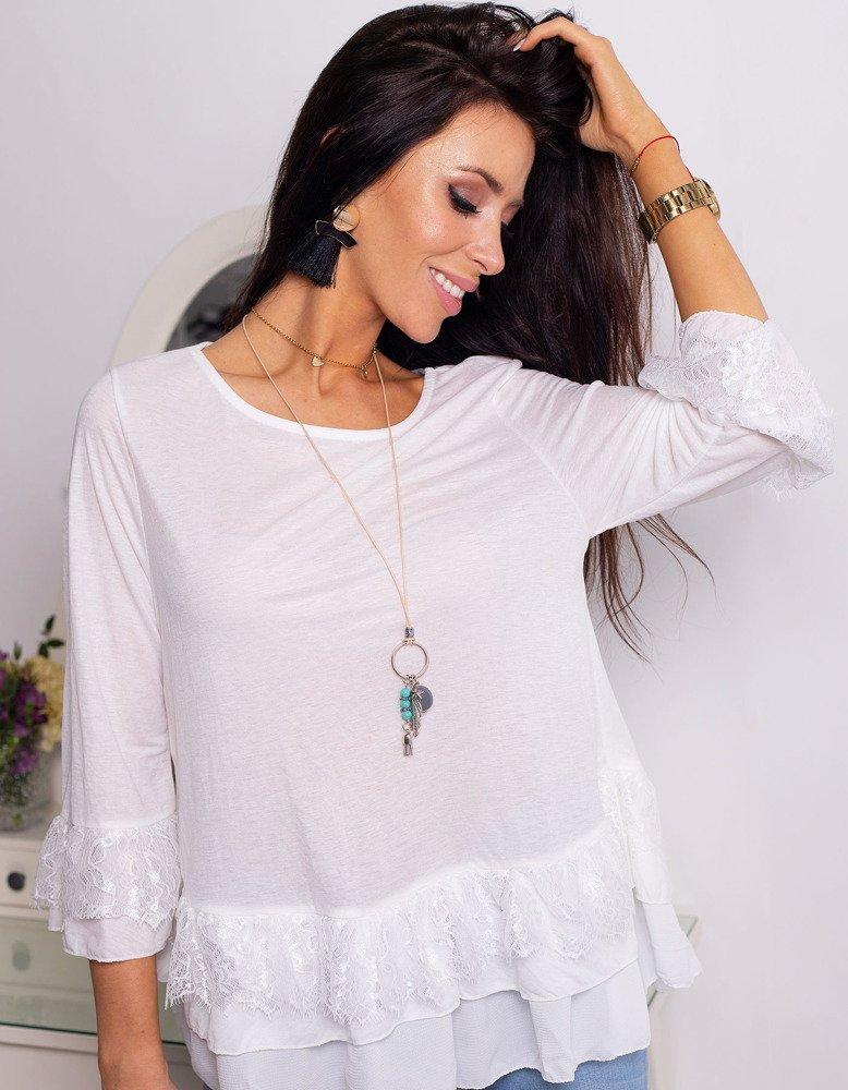 3388fe05a1e35d Bluzka damska SHELO biała (ry0660) - sklep online Dstreet.pl