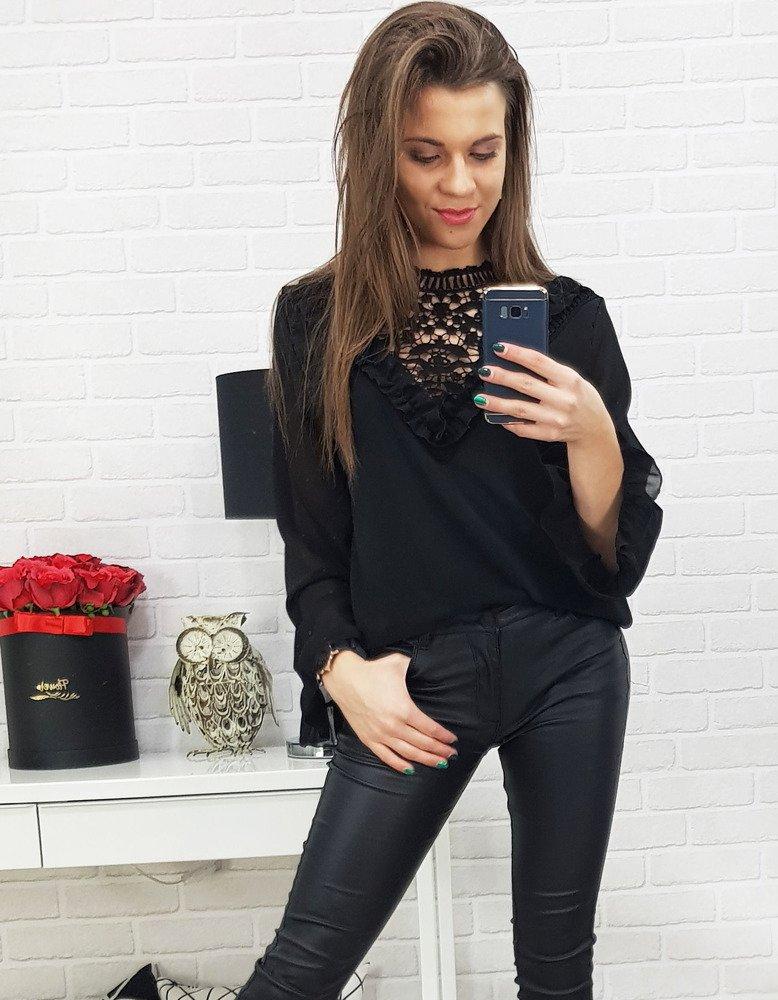 Bluzka damska MELLA czarna (ry0562)