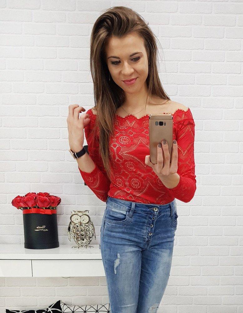 9c84fd944791ac Body koronkowe EXCLUSIVE czerwone (ry0453) - sklep online Dstreet.pl