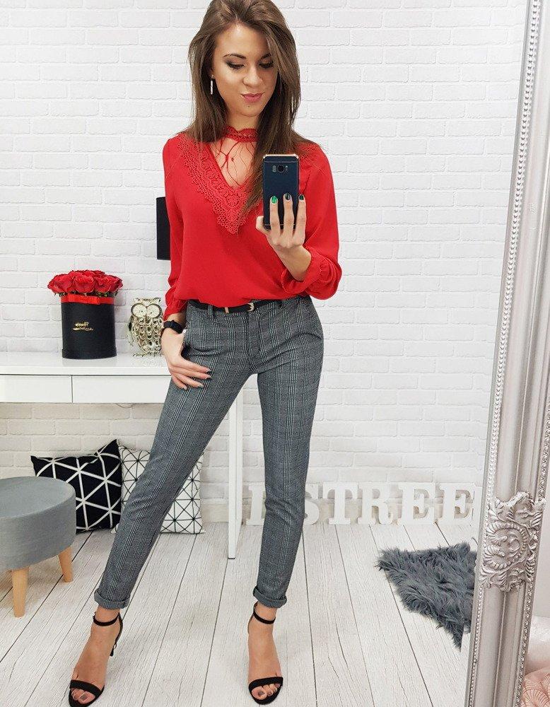 07c51eeb6d9711 Czerwona bluzka damska MEGI (ry0602) - sklep online Dstreet.pl