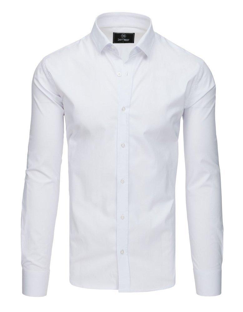 Elegancka koszula męska PREMIUM z długim rękawem biała  qj5a5