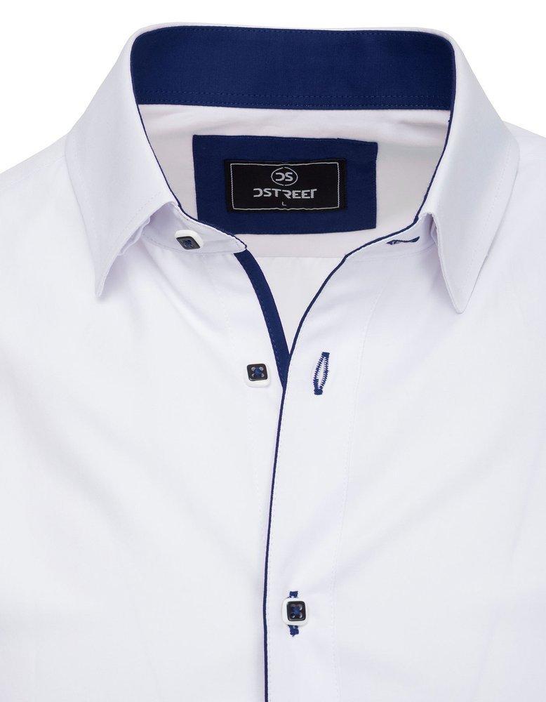 Elegancka koszula męska PREMIUM z długim rękawem biała  Pen1i