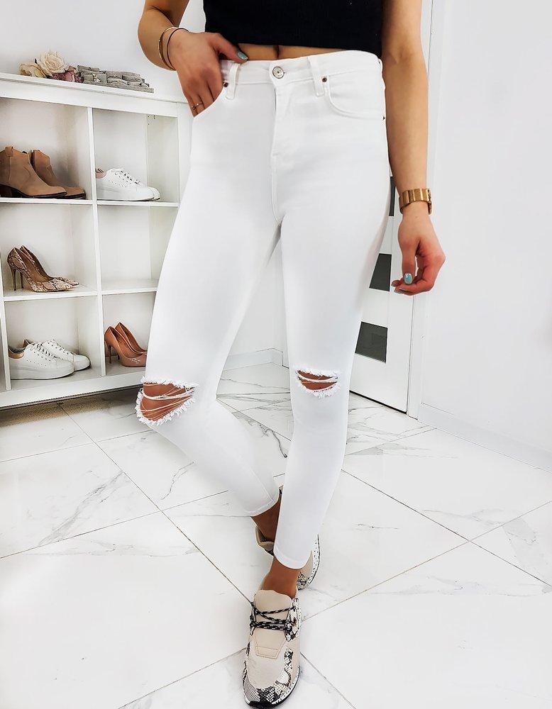 Jeansy damskie Skinny Fit KINLEYS białe UY0360