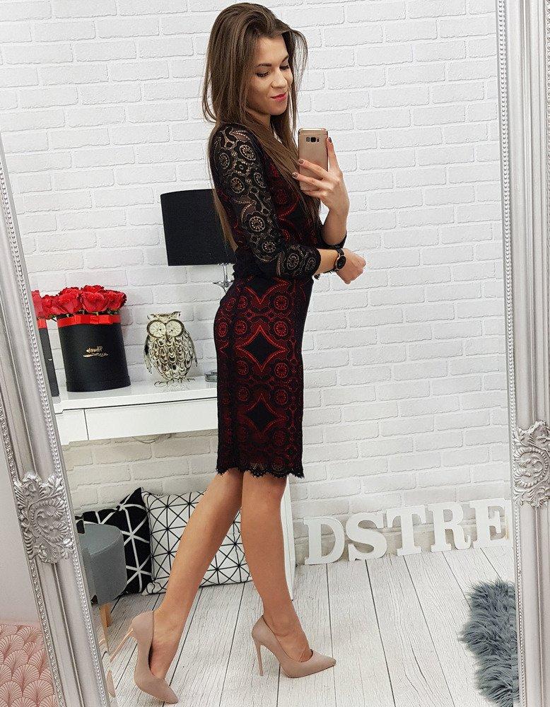 bd2e755d71981b Komplet koronkowy ANGELINA czarno-czerwony (ay0122) - sklep online ...