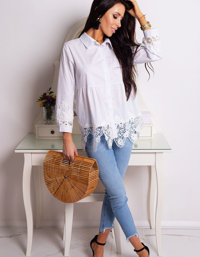cc8e1eb1c45fd Koszula damska SONIA biała (dy0182) - sklep online Dstreet.pl