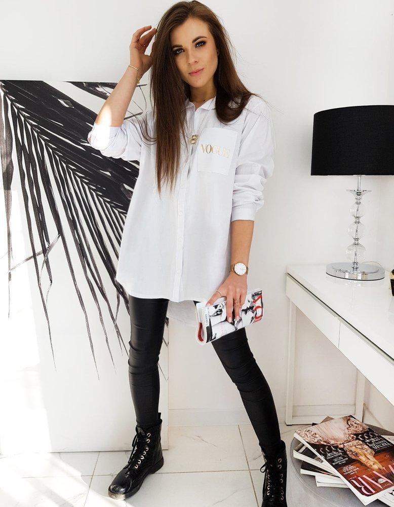 koszula damska oversize Vogue biała Dstreet DY0196