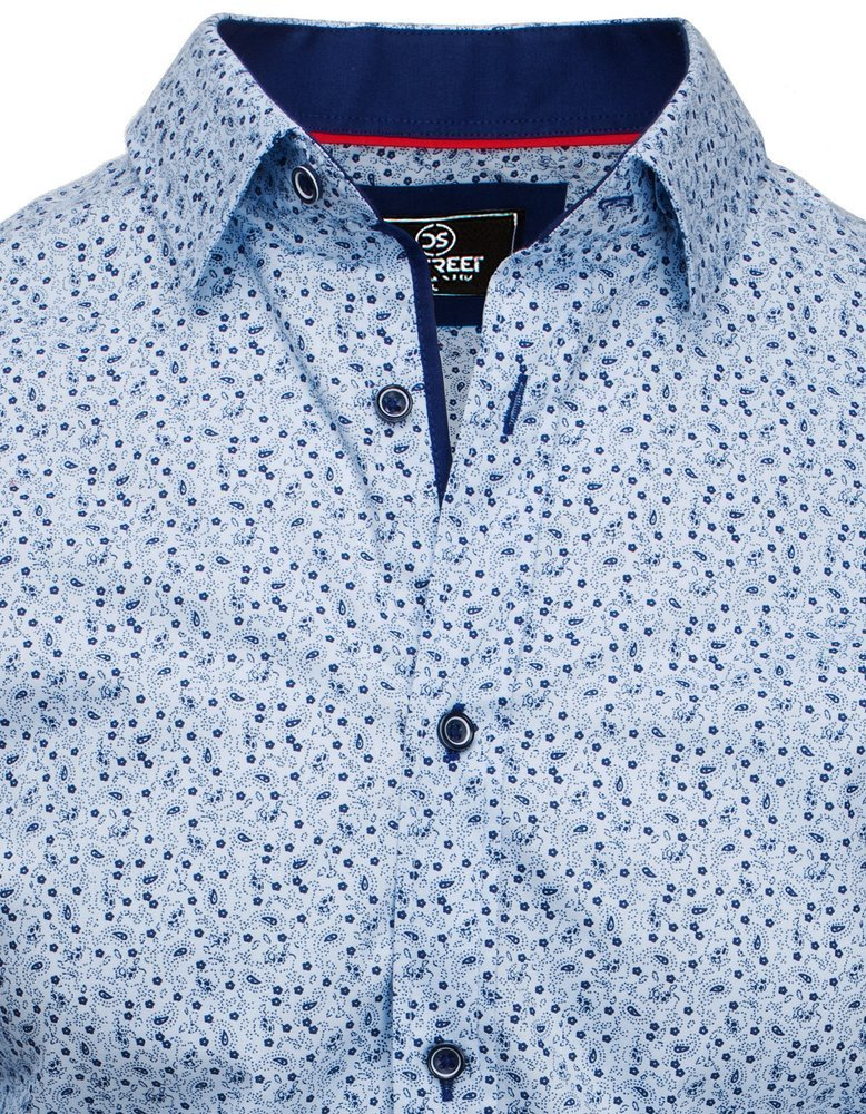 Koszula męska PREMIUM z długim rękawem błękitna DX1811  uz4fd
