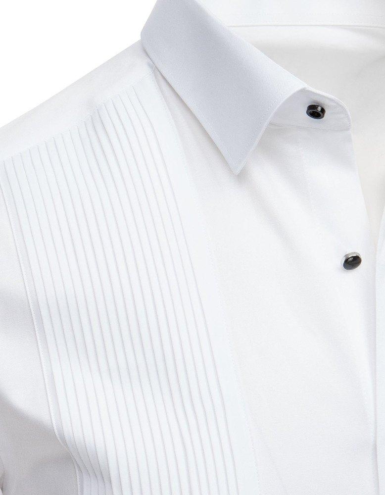 06819eed974d0d Koszula smokingowa z plisami biała (dx1739) - sklep online Dstreet.pl