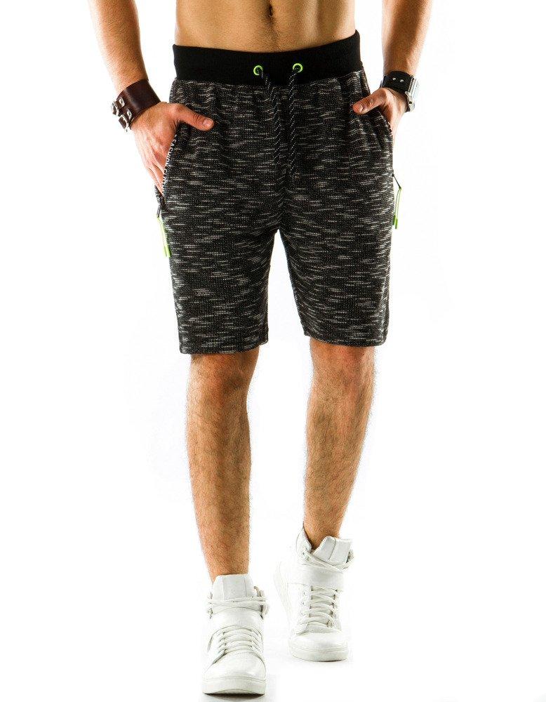 0ed6341430c307 Krótkie spodenki dresowe męskie czarne (sx0311) - sklep online ...