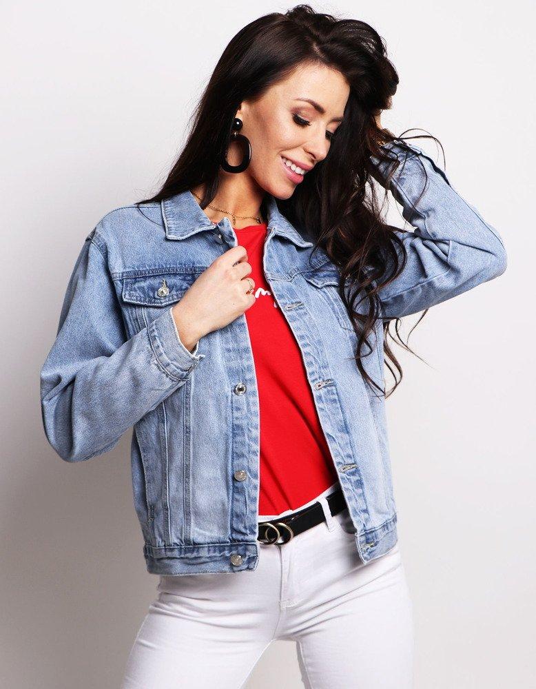 7a0a123eff54f Kurtka damska jeansowa ALBERTA niebieska (ty0614) - sklep online ...
