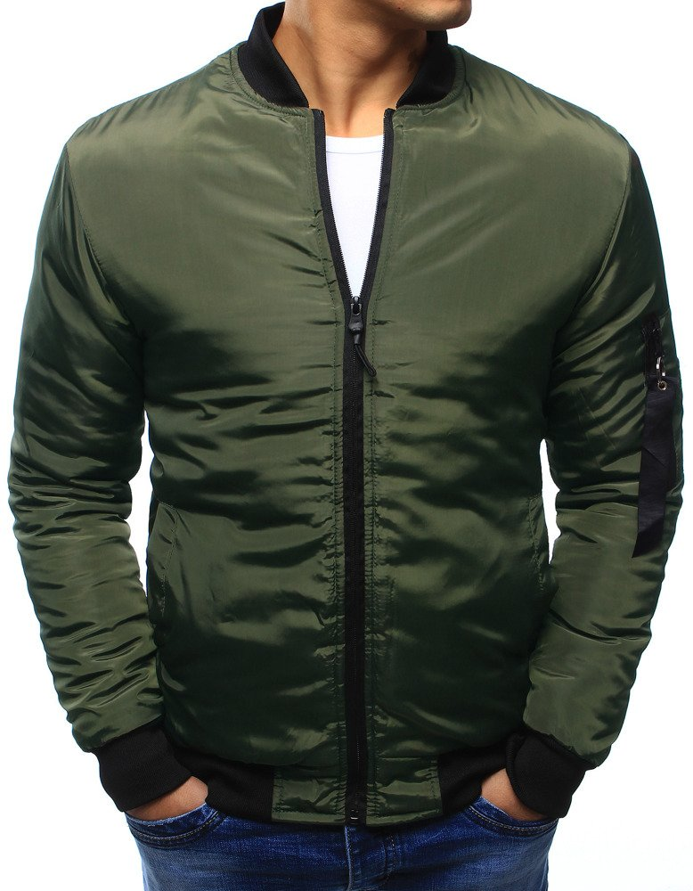 4487ed67f9e7e Kurtka męska bomber jacket zielona (tx1959) - sklep online Dstreet.pl