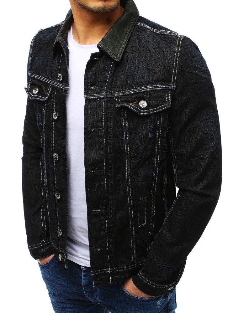 męska dżinsowa kurtka czarna