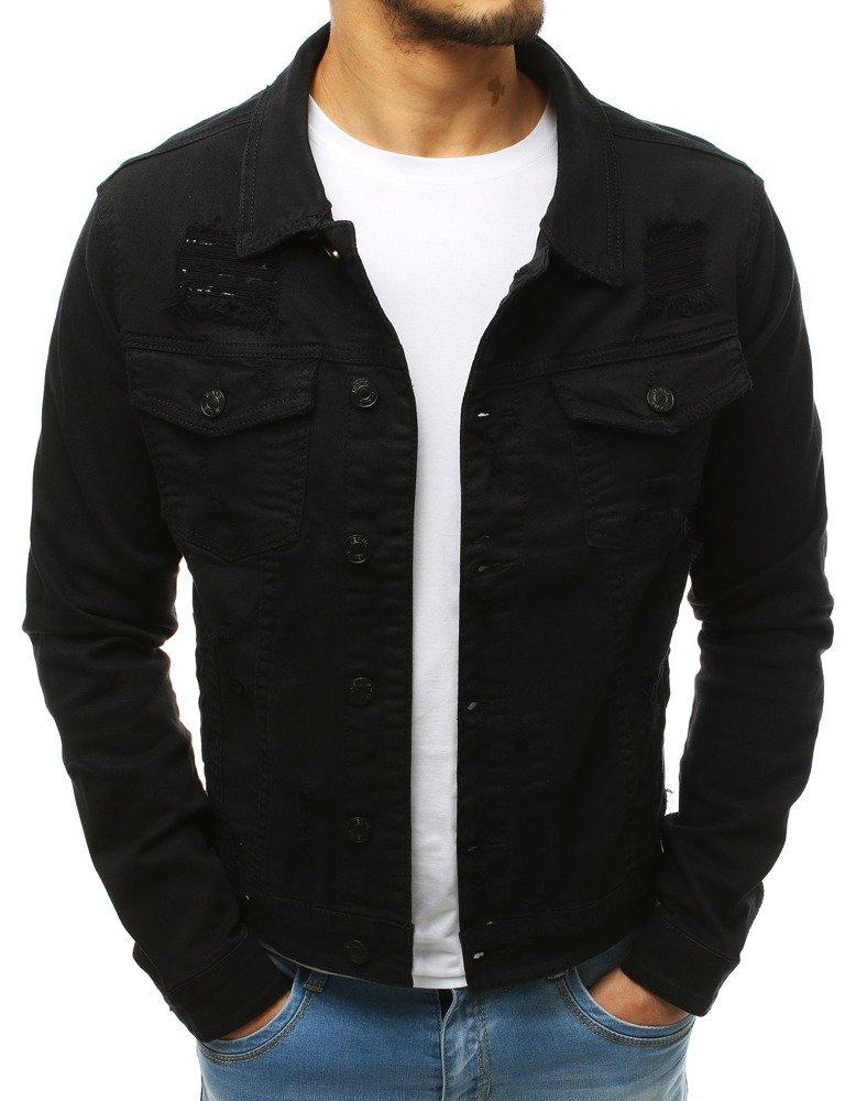 493cc6d22c378 Kurtka męska jeansowa czarna (tx2658) - sklep online Dstreet.pl