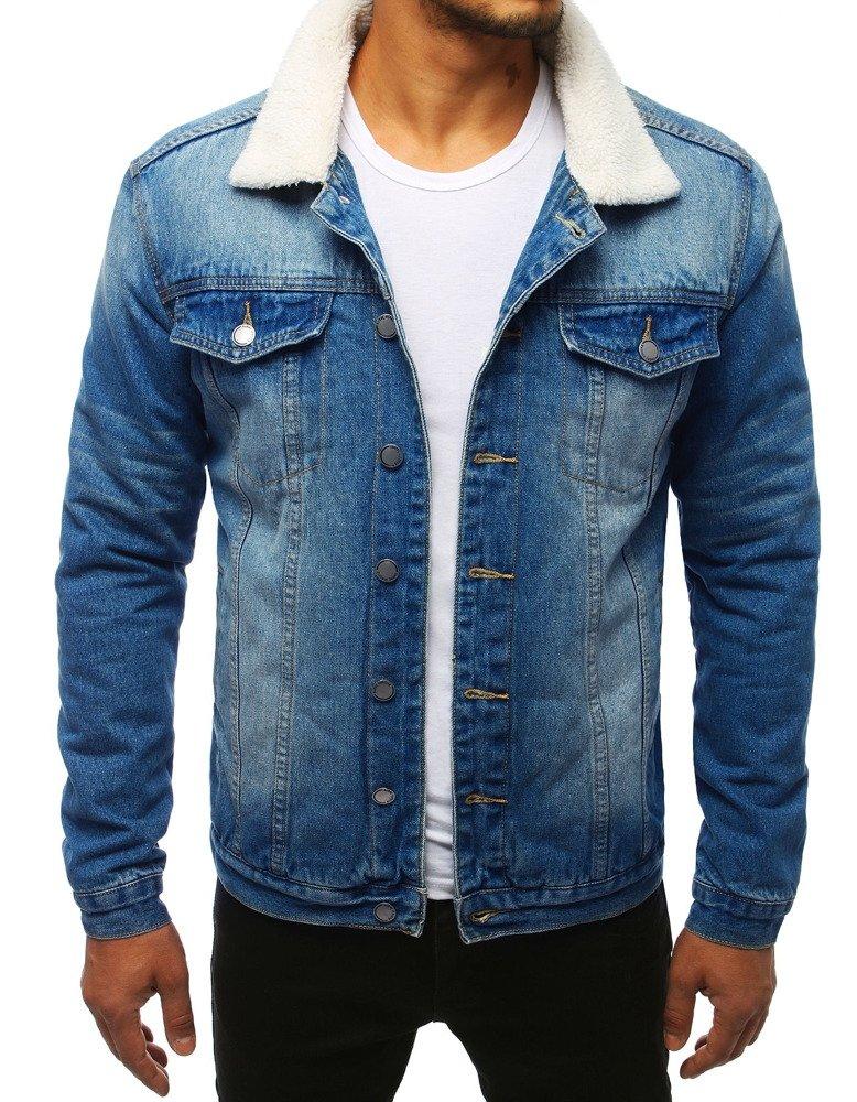 Kurtka męska jeansowa niebieska TX2832