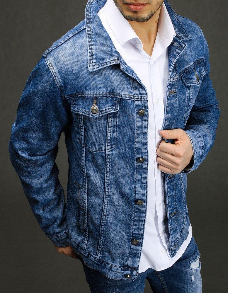 Kurtka męska jeansowa niebieska TX3223