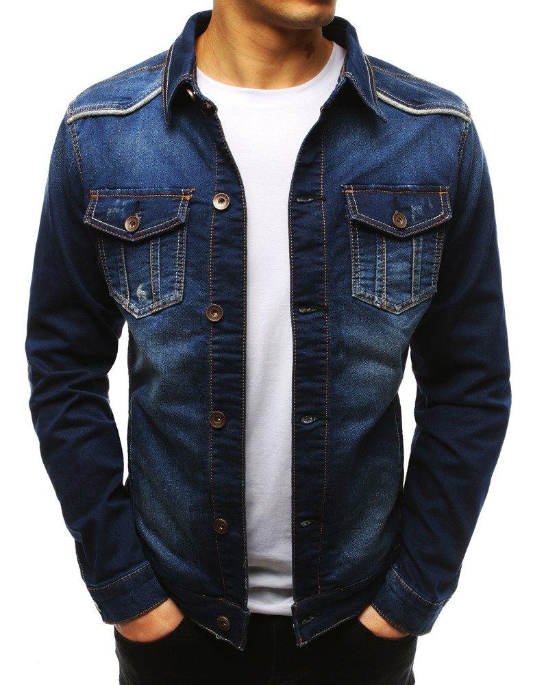 1cd37e2d8fa7d Kurtka męska jeansowa niebieska (tx2614) - sklep online Dstreet.pl