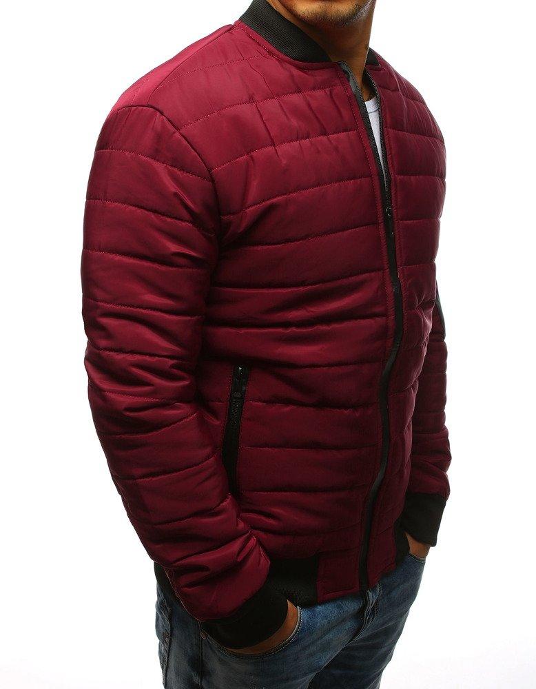 47d836bf89aca Kurtka męska pikowana bomber jacket bordowa (tx2204) - sklep online ...