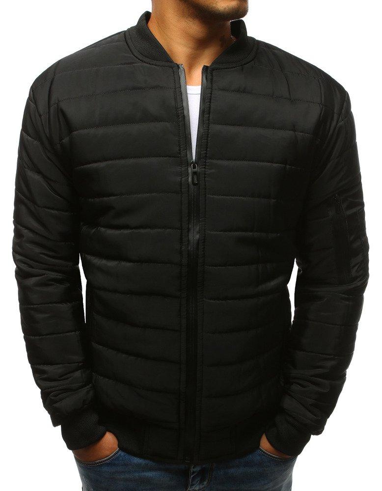 b5174581df07cc Kurtka męska pikowana bomber jacket czarna (tx2213) - sklep online ...