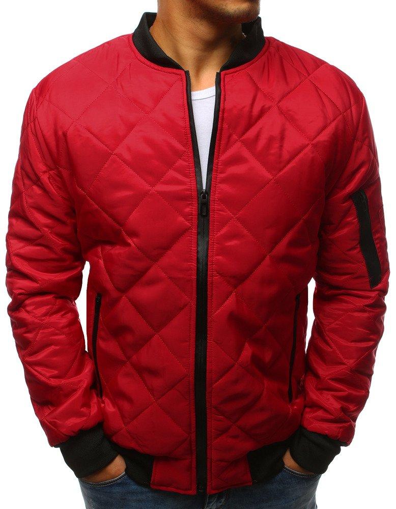 cc93e0c2dec36 Kurtka męska pikowana bomber jacket czerwona (tx2210) - sklep online ...