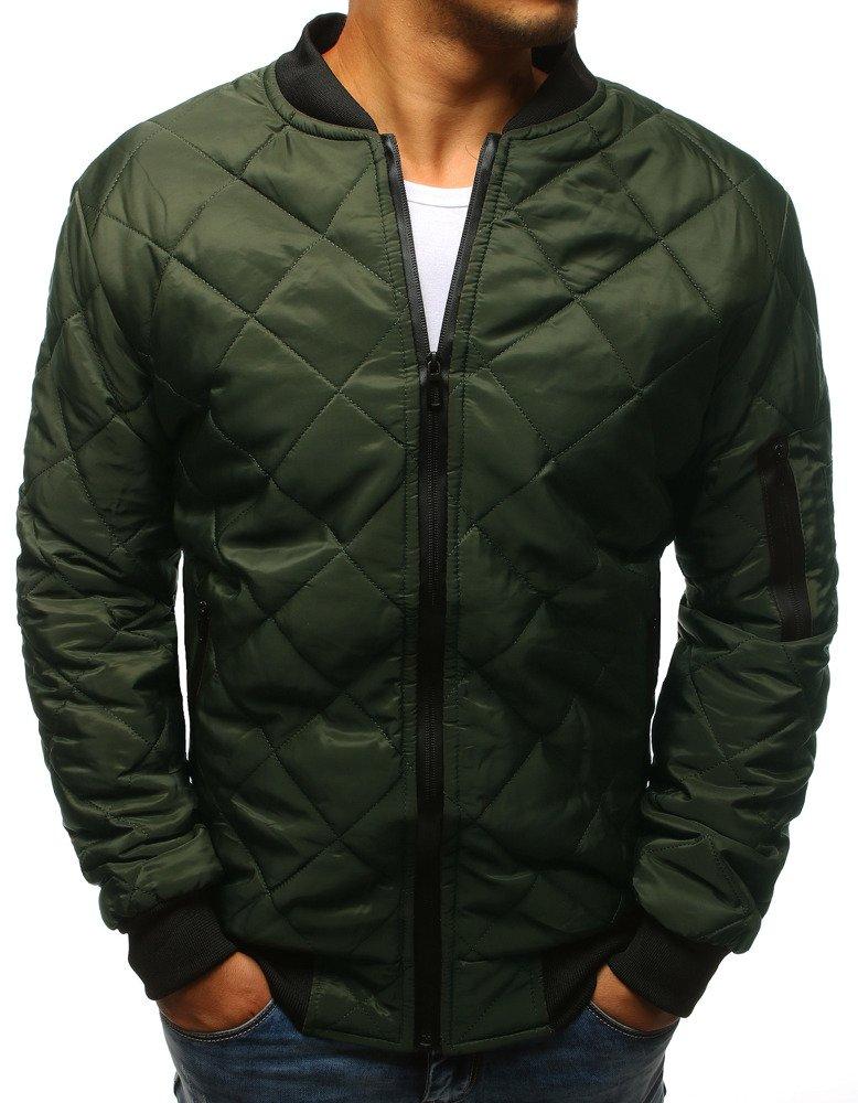 8871b6f21bd41 Kurtka męska pikowana bomber jacket zielona (tx2216) - sklep online ...