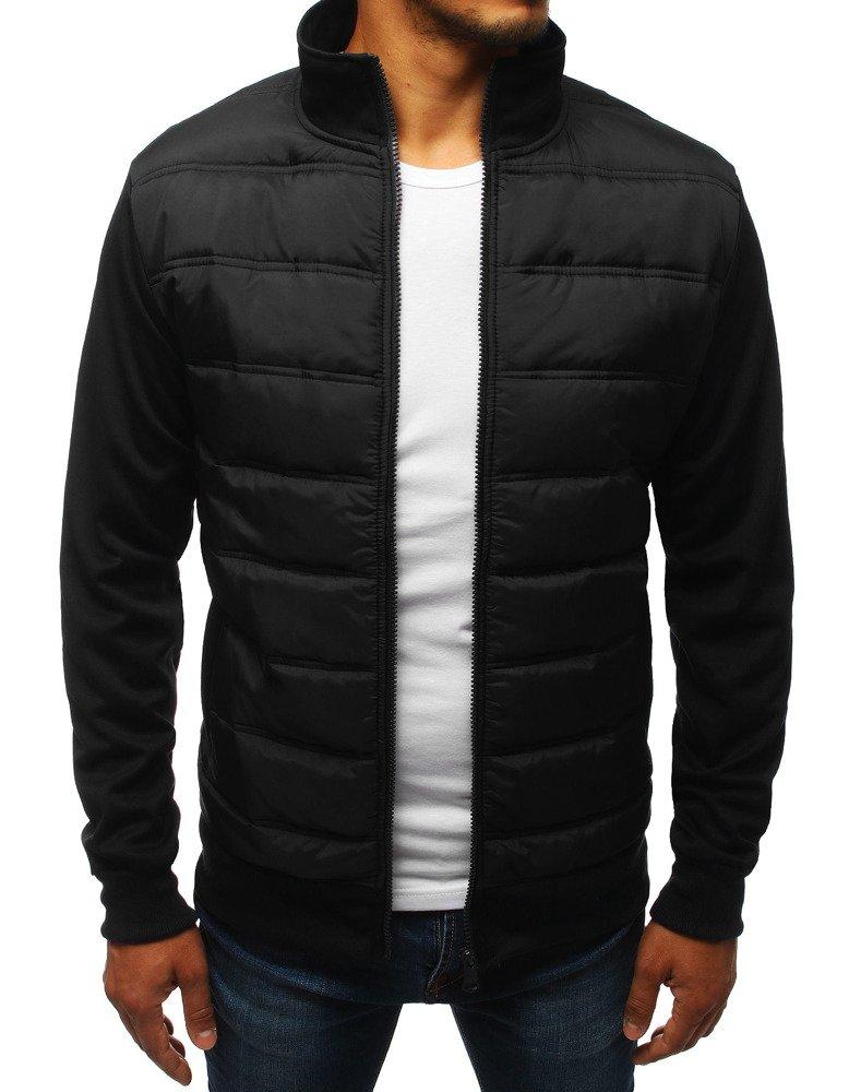 Czarna, pikowana kurtka przejściowa