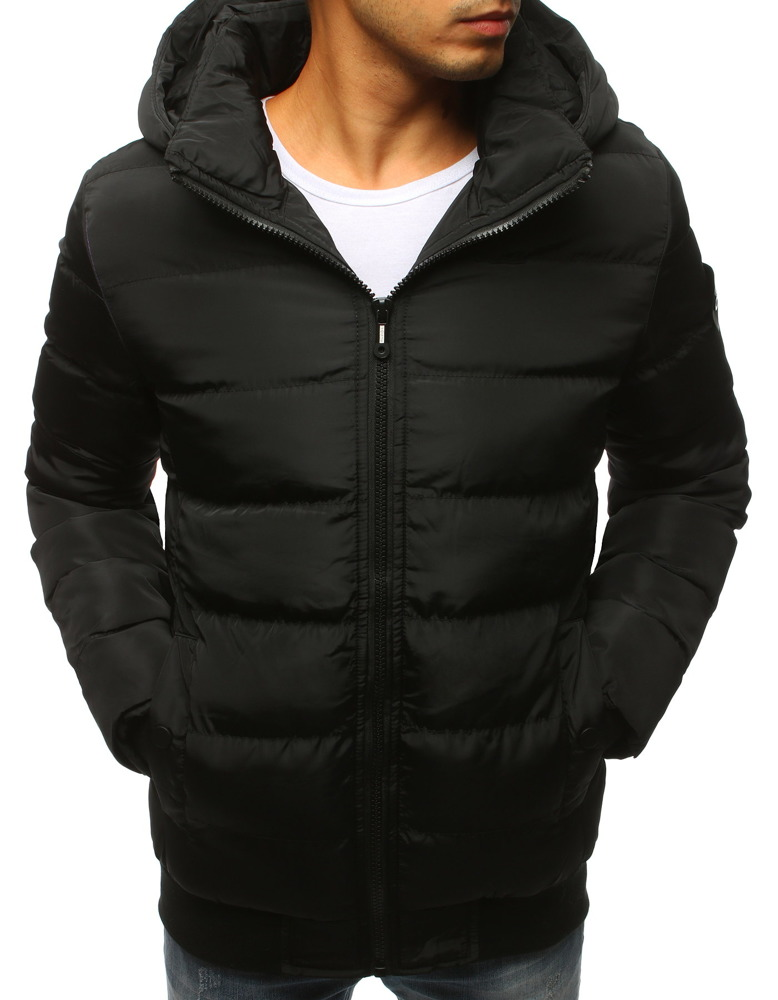Fantastyczny Kurtka męska zimowa pikowana czarna (tx2308) - sklep online Dstreet.pl VA99
