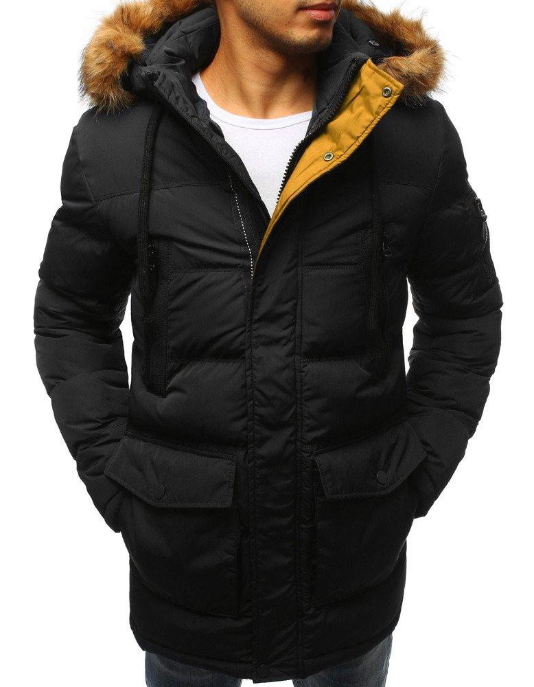 698f3d6dd359f Kurtka męska zimowa pikowana czarna (tx2312) - sklep online Dstreet.pl