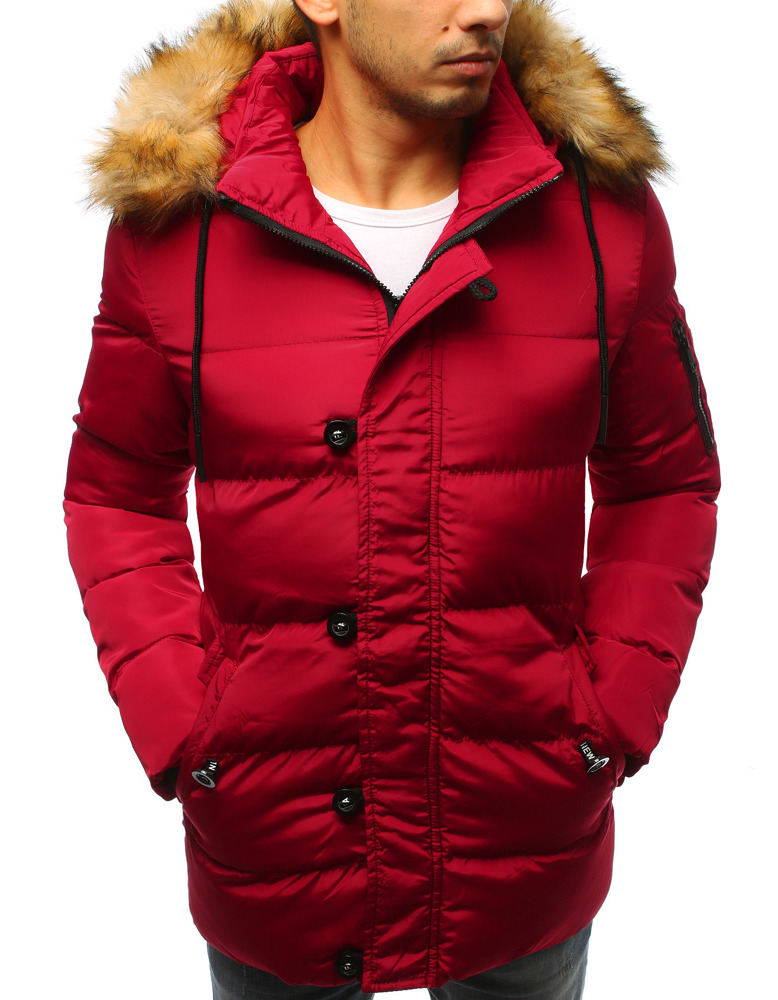 kurtka pikowana zimowa z kożuchem w środku męska